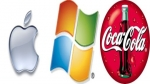 microsoft, apple, coca cola