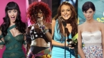 rihanna, lindsay lohan, ashley greene, katy perry