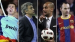 Jos Mourinho, Iker Casillas, Pep Guardiola, Florentino Prez, Dani Alves, Andrs Iniesta, lvaro Arbeloa