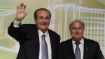 Nicols Leoz, Joseph Blatter, Eugenio Figueredo, Eduardo Deluca