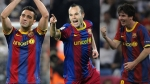 Lionel Messi, Andrs Iniesta,  Xavi