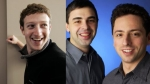 Facebook, Apple, Mark Zuckerberg, Microsoft, Amazon, Larry Page, Sergey Brin