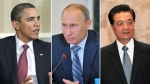 Barack Obama, Vladimir Putin, Hu Jintao