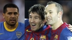 Lionel Messi, Juan Romn Riquelme, Andrs Iniesta