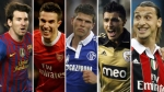 FC Barcelona, Robin van Persie, Lionel Messi, Schalke 04, Klaas-Jan Huntelaar, Benfica, scar Cardozo, Arsenal  FC, AC Mila,  Zla