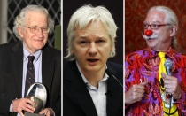 Julian Assange, Noam Chomsky, Patch Adams