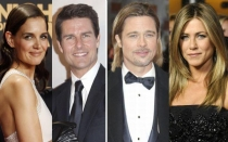 Johnny Depp, Brad Pitt, Jennifer Aniston, Tom Cruise, Nicole Kidman, Katie Holmes