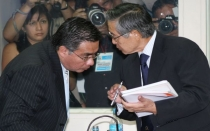 Alberto Fujimori, Csar Nakazaki, Javier Villa Stein