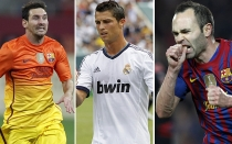 FC Barcelona, Cristiano Ronaldo, Lionel Messi, Michel Platini, Andrs Iniesta, Real Madrid, UEFA