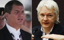Rafael Correa, Julian Assange
