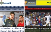 FC Barcelona, Premio Prncipe de Asturias, Iker Casillas, Liga espaola, Ftbol espaol, Espaa, Xavi Hernndez, Real Madrid