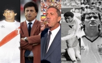 Franco Navarro, Carlos Bilardo, Guillermo La Rosa, Branco