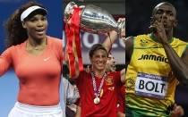 Atletismo, Novak Djokovic, Serena Williams, Michael Phelps, Usain Bolt, Ftbol espaol, ATP, Seleccin espaola, Tenis, AIPS