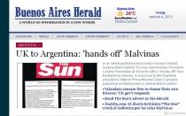 Islas Malvinas, The Sun, Reino Unido, Argentina, Falkland Islands