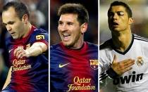 FIFA, FC Barcelona, Cristiano Ronaldo, Lionel Messi, Andrs Iniesta, Baln de Oro, Real Madrid