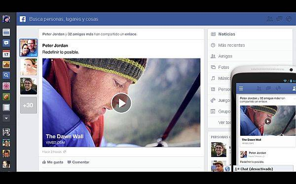Facebook cambia otra vez: este es el nuevo diseo de su 