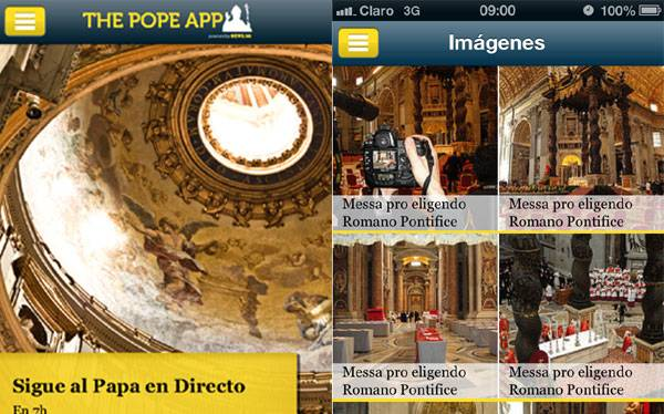The Pope App para iPhone