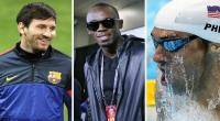 Lionel Messi, Usain Bolt, Michael Phelps