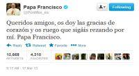 Twitter, Papa Francisco