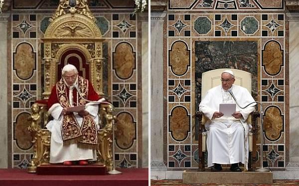 Papa Francisco cambió lujoso sillón de oro por uno de madera