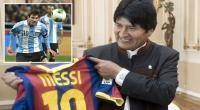 Evo Morales, Lionel Messi