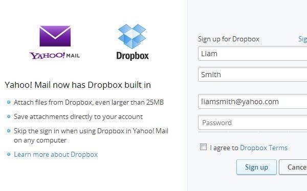 Yahoo and Dropbox team up to facilitate sending large files   Gadget