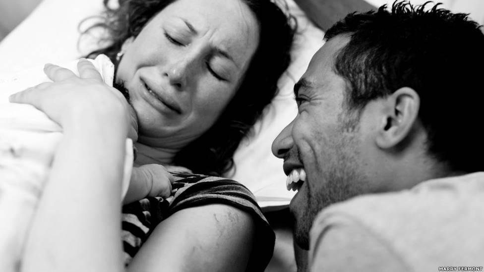 Fotografías de madres dando a luz