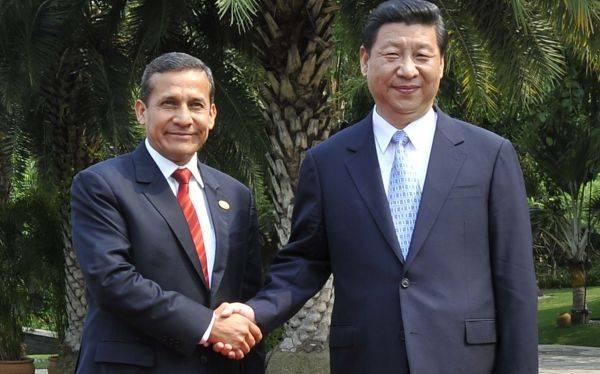Humala ante su par Xi Jinping: