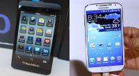 Samsung, BlackBerry, Smartphones, Galaxy S4, Blackberry Z10