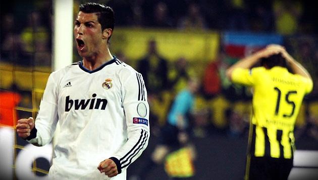 Real Madrid con Cristiano busca una remontada histórica ante el Borussia Dortmund