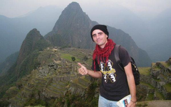 Jeremy Marie en Machu Picchu en el 2011 (Foto: Facebook Jeremy Marie)