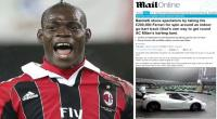 La ltima de Balotelli: multado por conducir su Ferrari en pista de karts
