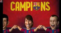 VIDEO: Barcelona celebra con dibujos animados su ttulo 22 de Liga