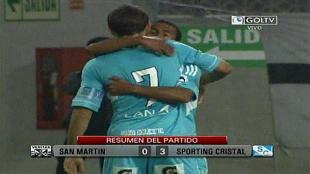 Sporting Cristal gan 3-0 a Universidad San Martn y es lder del Descentralizado