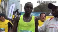Keniata Isaac Kimaiyo gan la multitudinaria maratn Lima 42K 
