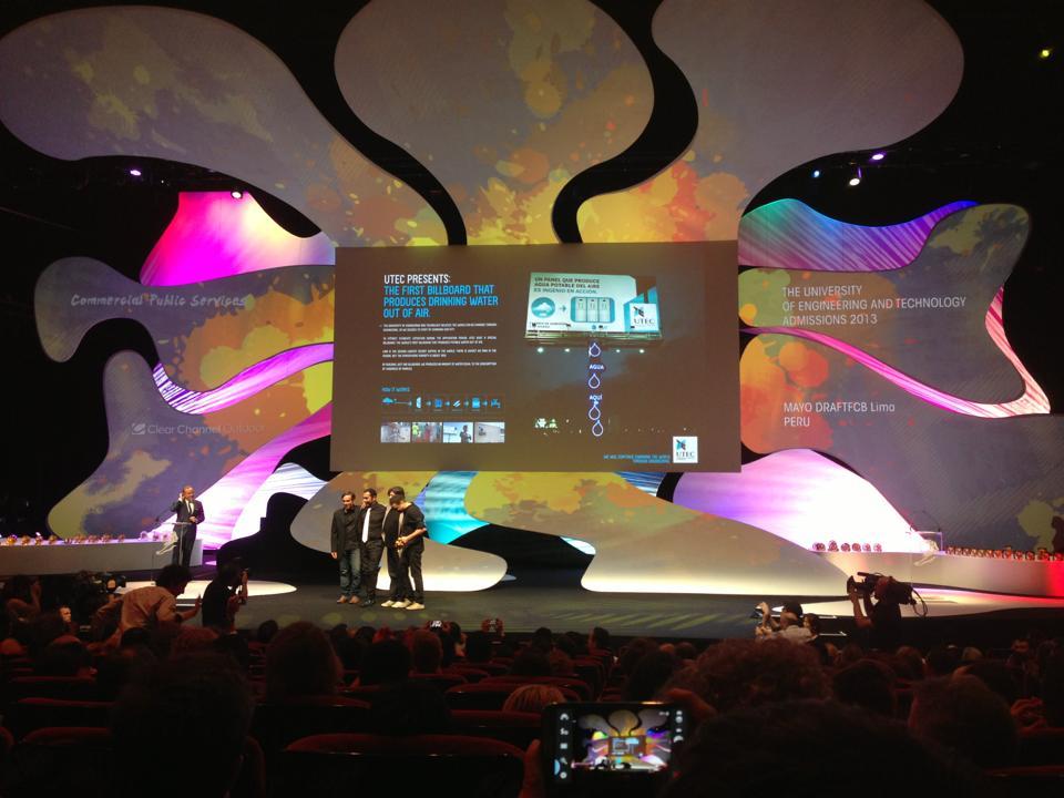 Ceremonia de premiación en Cannes Lions 2013. (Foto: Difusión)